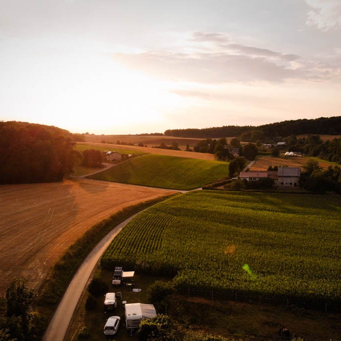 Drohnenaufnahme bei Heilbronn