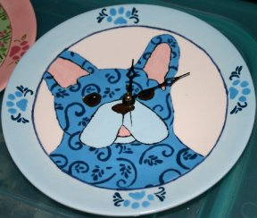 Kimberly's Beautiful Blue French Bulldog Clock
