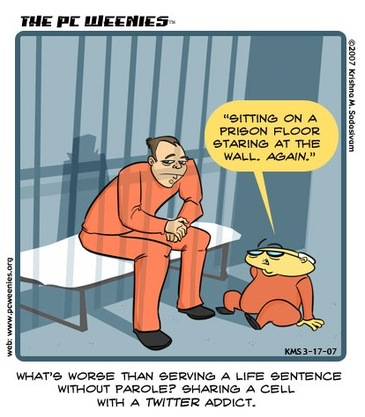 Twitter addicts cartoon
