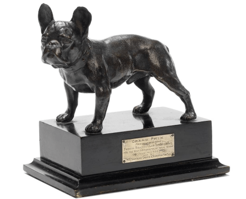 presented by the French Bulldog Club of England for the Best Dog exhibited at their show June 19 1922 won by Mrs Townsend Green's 'Barkston FanFan'