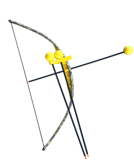 Yellow Camo Toy Bow and Arrow Trainer