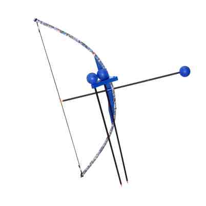 Red & Blue Camo Toy Bow And Arrow Trainer