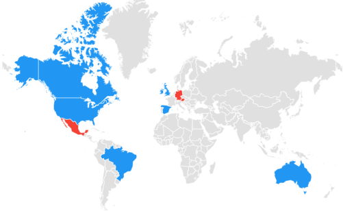 patriots raiders world map google trends