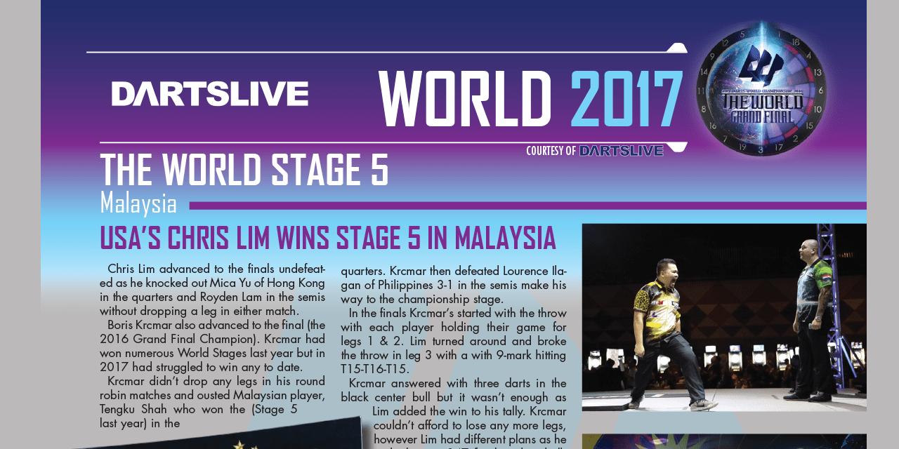 Chris Lim Wins world stage five – Dartslive