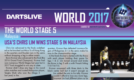 Chris Lim Wins world stage five – Dartslive