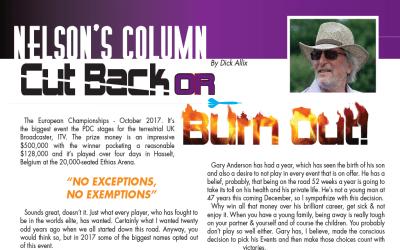 Nelson's Column – Dick Allix BEN's Professional Darts Correspondent