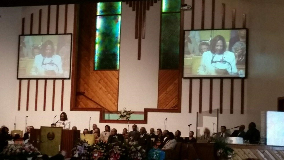 Rev. Bulluck at Ebenezer Missionary Baptist Church