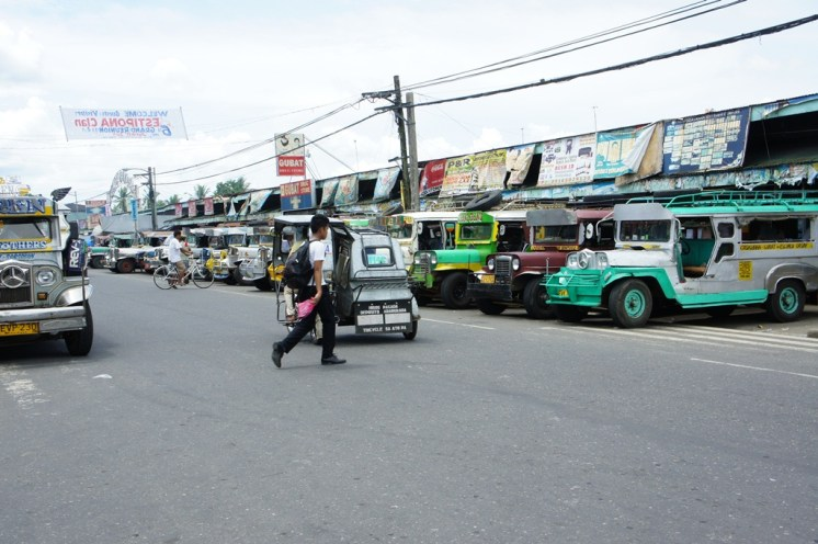 Jeepney parking space in front of the public market in Gubat town center.