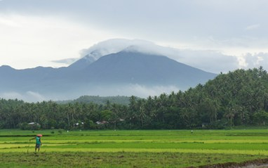 Mt. Bulusan as viewed from the jeepney along Bulusan-Barcelona route.