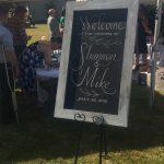 bumble B design Wedding Welcome Chalkboard, Seattle WA