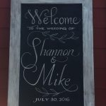 bumbleBdesign's Wedding Welcome Chalkboard in Calligraphy, Seattle WA