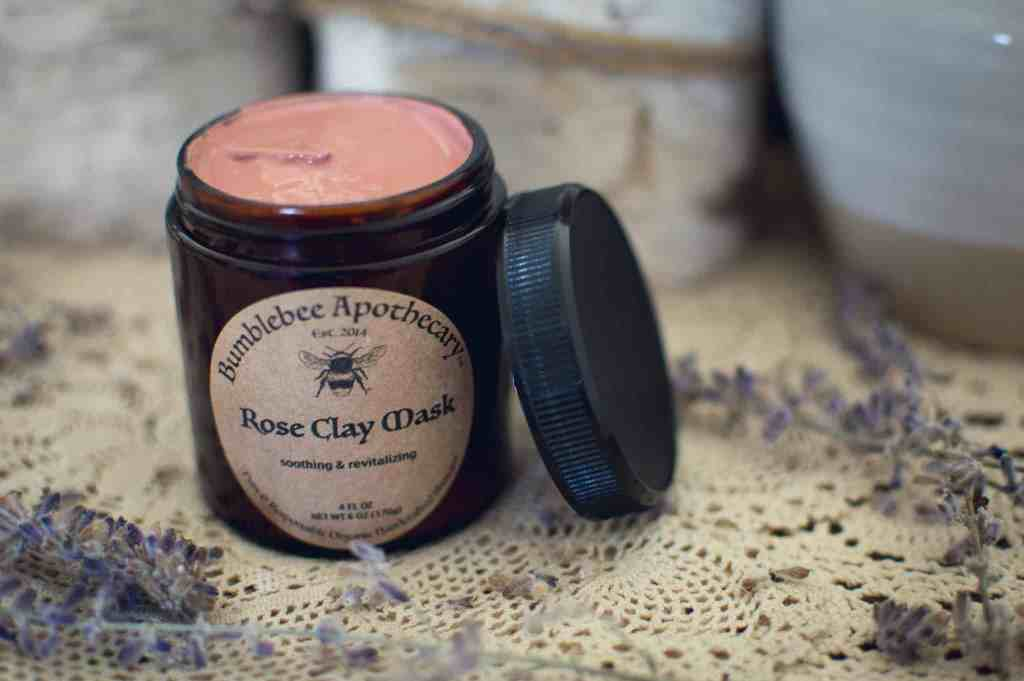 Rose clay face mask diy face mask for sensitive skin