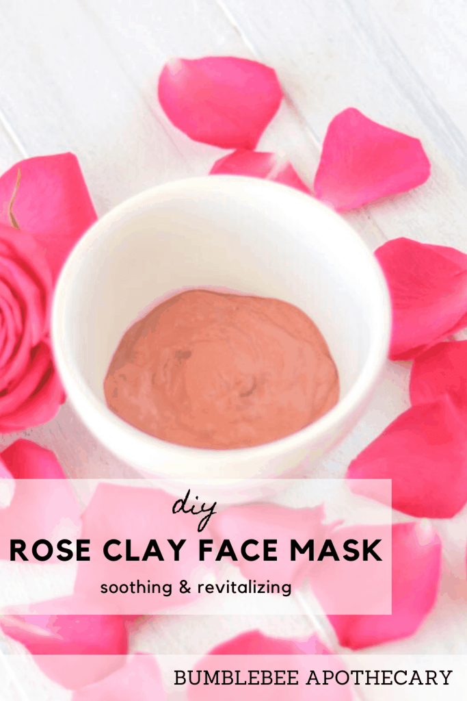 This DIY rose clay face mask is my most favorite face mask ever! It is great for soothing skin, reducing redness and blemishes, and hydrating. #roseclay #pinkclay #mask #facemask #diy