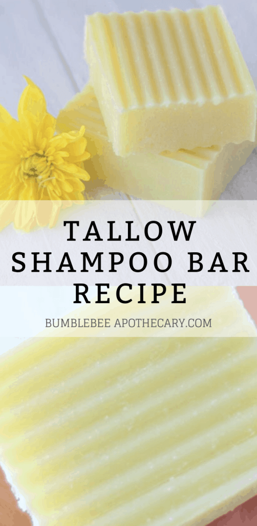 Tallow shampoo bar recipe and tutorial #shampoobar #tallow #naturalhaircare