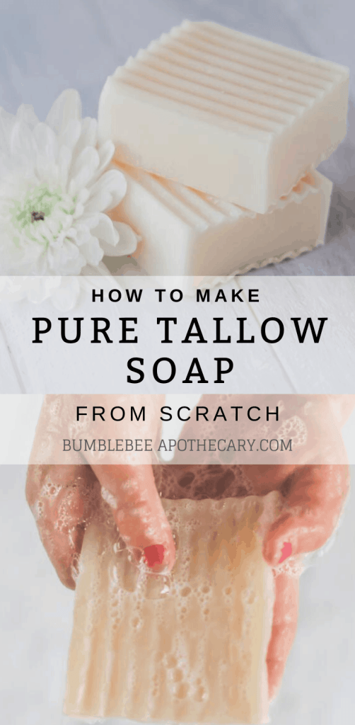 Tallow soap recipe | how to make soap from scratch #soapmaking #tallow #soap