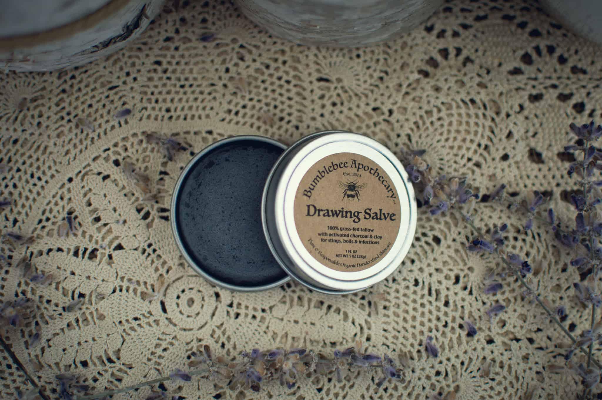 Black drawing salve recipe tallow salve