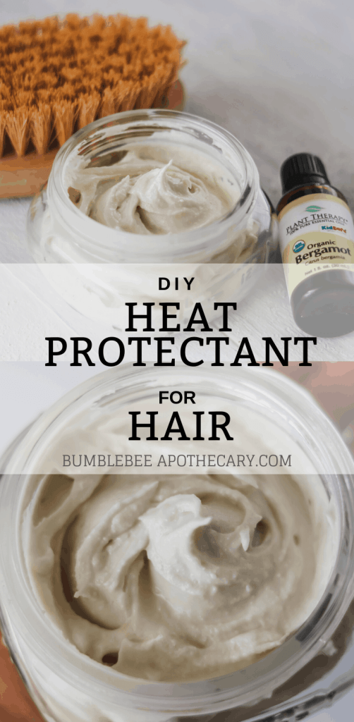 DIY heat protectant for hair #DIY #heatprotectant #natural