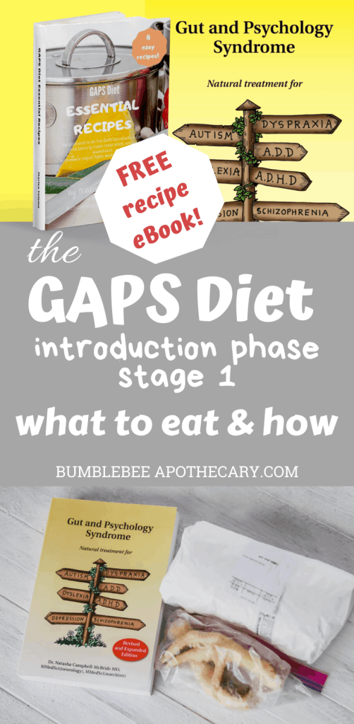 GAPS diet introduction phase stage 1: what to eat and how #gapsdiet #leakygut #allergies