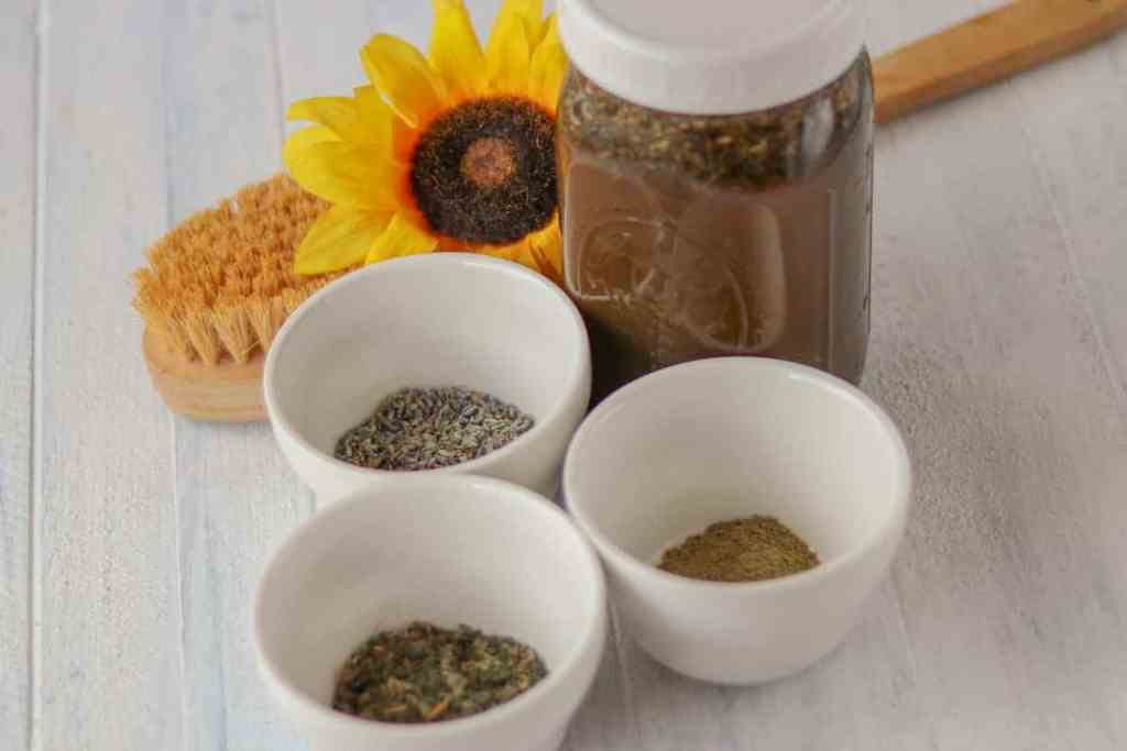 Herbal hair rinse recipe
