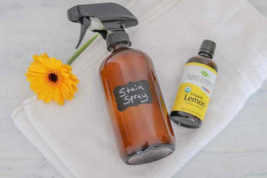 Lemon essential oil stain remover