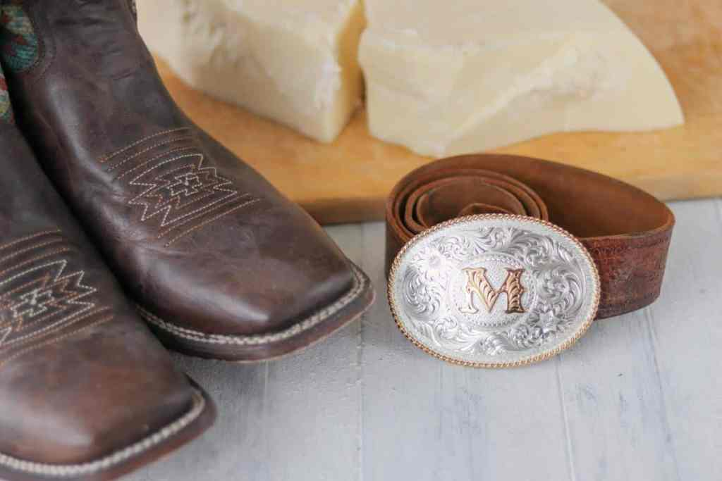 Tallow for leather conditioning