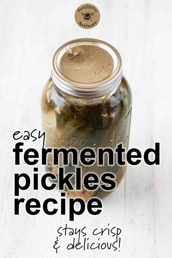 Fermented dill pickles recipes that stay crisp. How to make easy naturally lacto fermented pickles. #healthyrecipes #fermentation #health