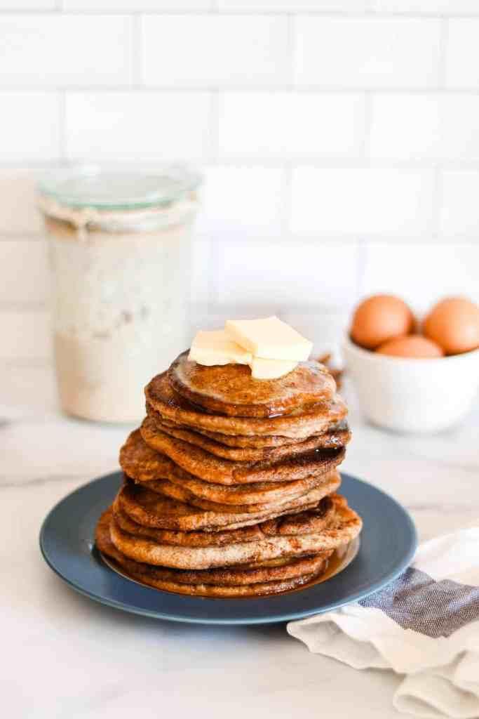 How to make sourdough pancakes