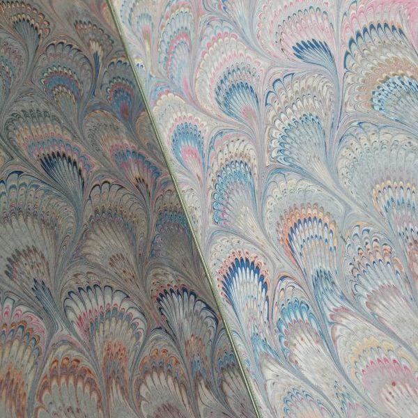 Hand Marbled Italian Endpapers