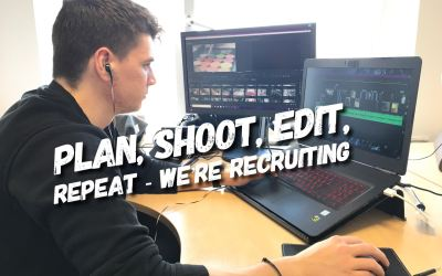 Plan, Shoot, Edit, Repeat – We're Recruiting