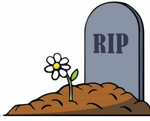 image of tombstone with RIP on it