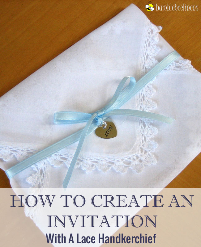 Making An Invitation From Handkerchiefs