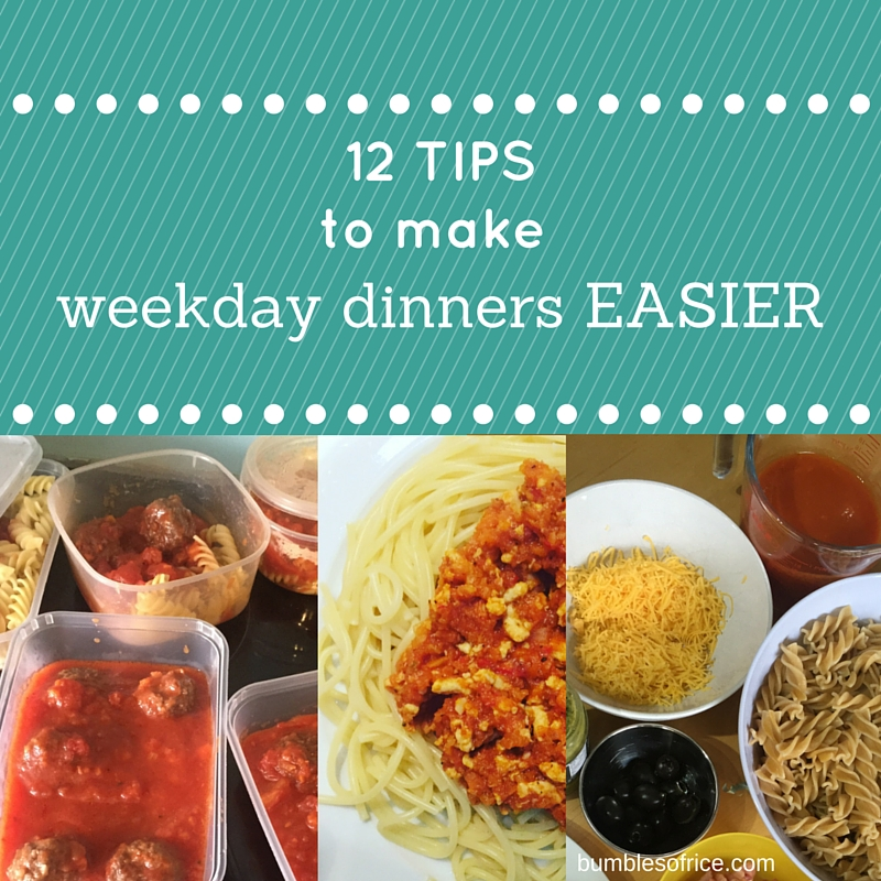 12 Tips to Make Weekday Dinners Easier