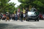 Foto aksi penolakan pembangunan bulukumba waterfront city di kantor bupati Bulukumba