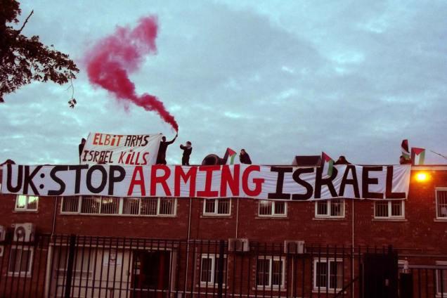 Demonstran Inggris Pro Palestina Duduki Pabrik Israel di Inggris 01