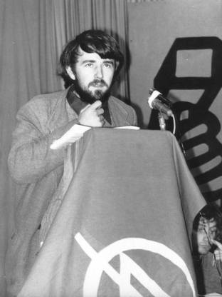 John Percy speaking at SYA Third National Conference, Easter 1972