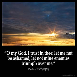 Psalms_25-2: O my God, I trust in thee: let me not be ashamed, let not mine enemies triumph over me