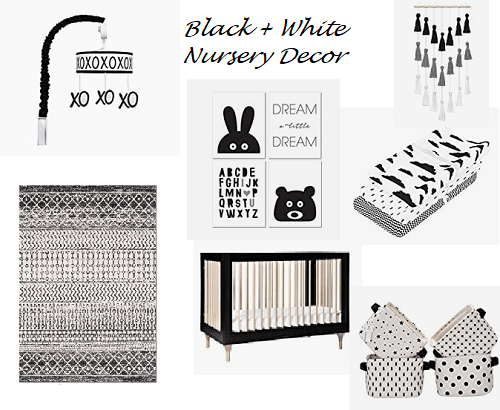 Black + White Nursery Decor