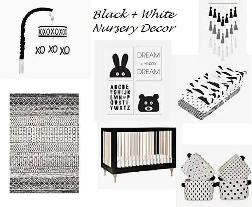 Black + White Nursery Decor