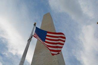 Immer und überall: amerikanische Flagge