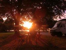 Ein Hühnchen im East Potomac Park grillen
