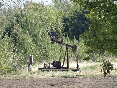 Eine kleine Ölpumpe - sind oft schon stillgelegt