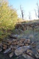 Von den Indianern angelegte Stufen zur besseren Bewässerung