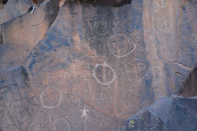 Vermutlich eher von Touristen als von Aboriginals gezeichnet