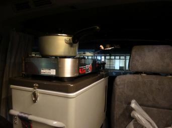 Beengte Platzverhältnisse: Wir kochen auf dem Kühlschrank