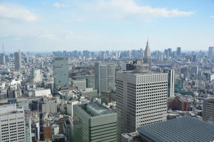 Stadtrundblick von 45. Stockwerk