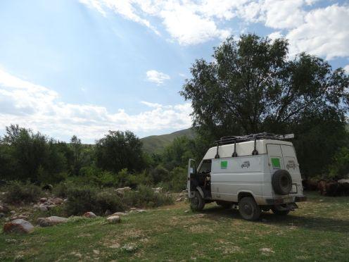 Letzter Übernachtungsplatz in Kirgistan