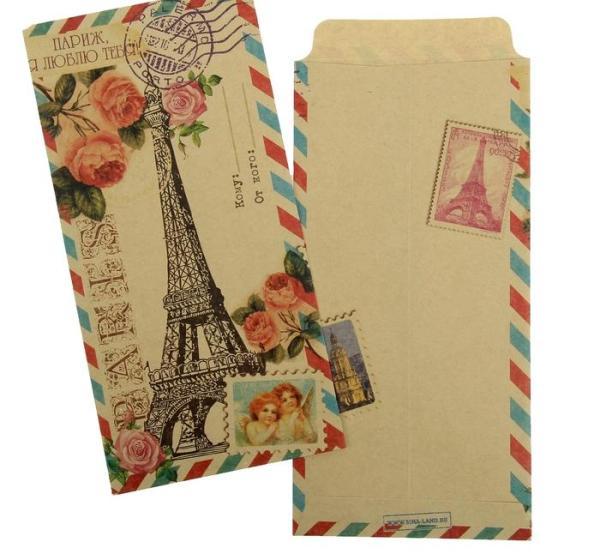 Конверт подарочный «Париж, я люблю тебя»