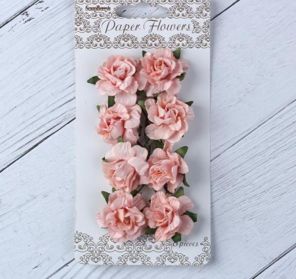 """Цветы гвоздики бумажные """"Розовые"""""""
