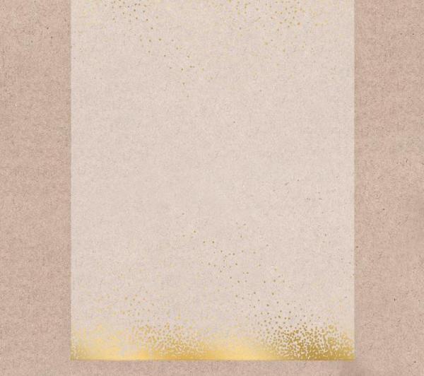 Калька декоративная с фольгированием «Золотой ветер»