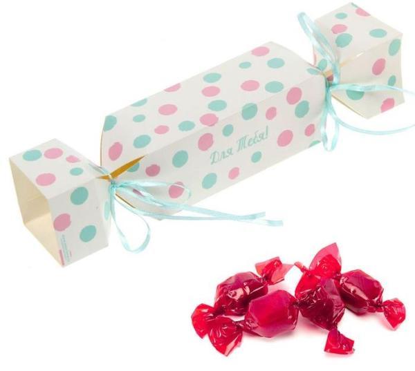 """Складная коробка-конфета """"Нежный горошек"""""""
